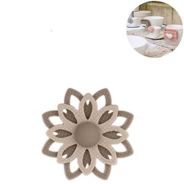 Picture of Cup Accessory Flower Taupe
