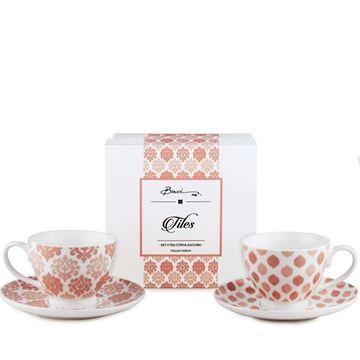 Resim Tiles 2'li Çay Fincanı Seti Peach