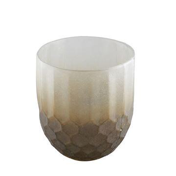 Resim Mumluk Gri-Kahve H:17 cm