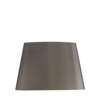 Resim Tafta Gri Oval Abajur Şapkası H:28 cm