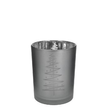 Resim Mumluk Çam 6,5 cm Koyu Gri