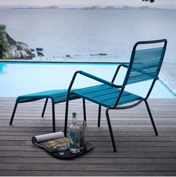 Picture of Camargue Stool Bronz Blue Rope