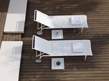 Picture of Atlantis Sunbed White