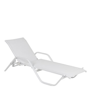 Picture of Rhodes Sunbed Witharm White