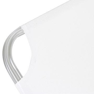 Resim Crete Şezlong Beyaz-Andonize Gümüş