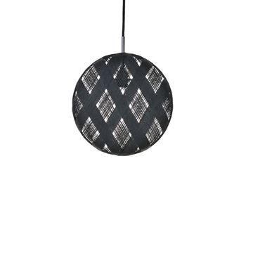 Resim Chanpen Altıgen Sarkıt Siyah Q:36 cm