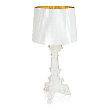 Resim Bourgie Masa Lambası Beyaz/Altın