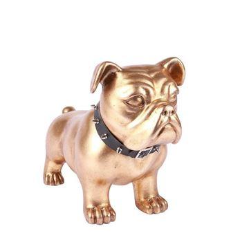 Picture of Decorative Dog Sculpture 37x18 cm Gold