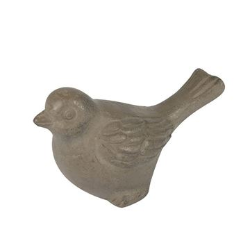 Picture of Decorative Bird Object 14x7 cm Grey