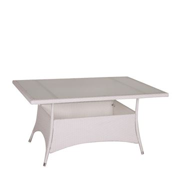 Picture of Rectangle Dining Table White 150 cm