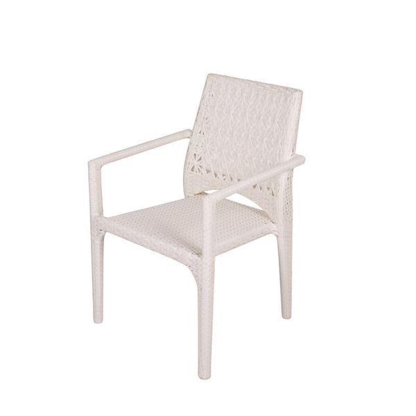 resm Kollu Sandalye Beyaz