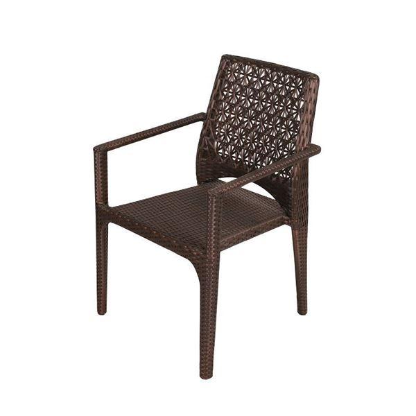 resm Kollu Sandalye Kahverengi