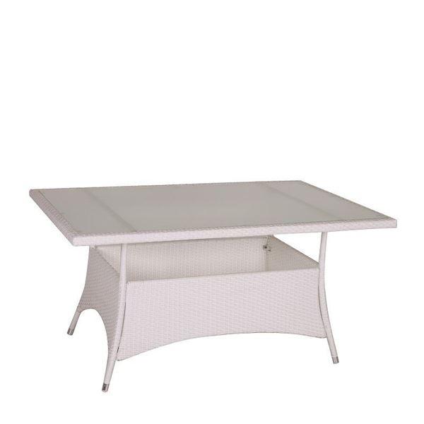resm Dikdörtgen Yemek Masası Beyaz 180 cm