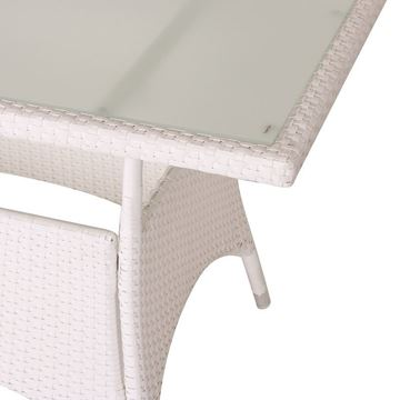Picture of Rectangle Dining Table White 180 cm