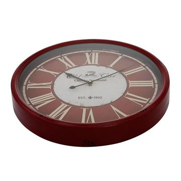 Picture of Claret Red Roman Numeral Wall Clock 48x48 cm