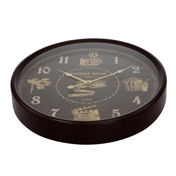 Picture of Black Vintage Wall Clock 48x48 cm