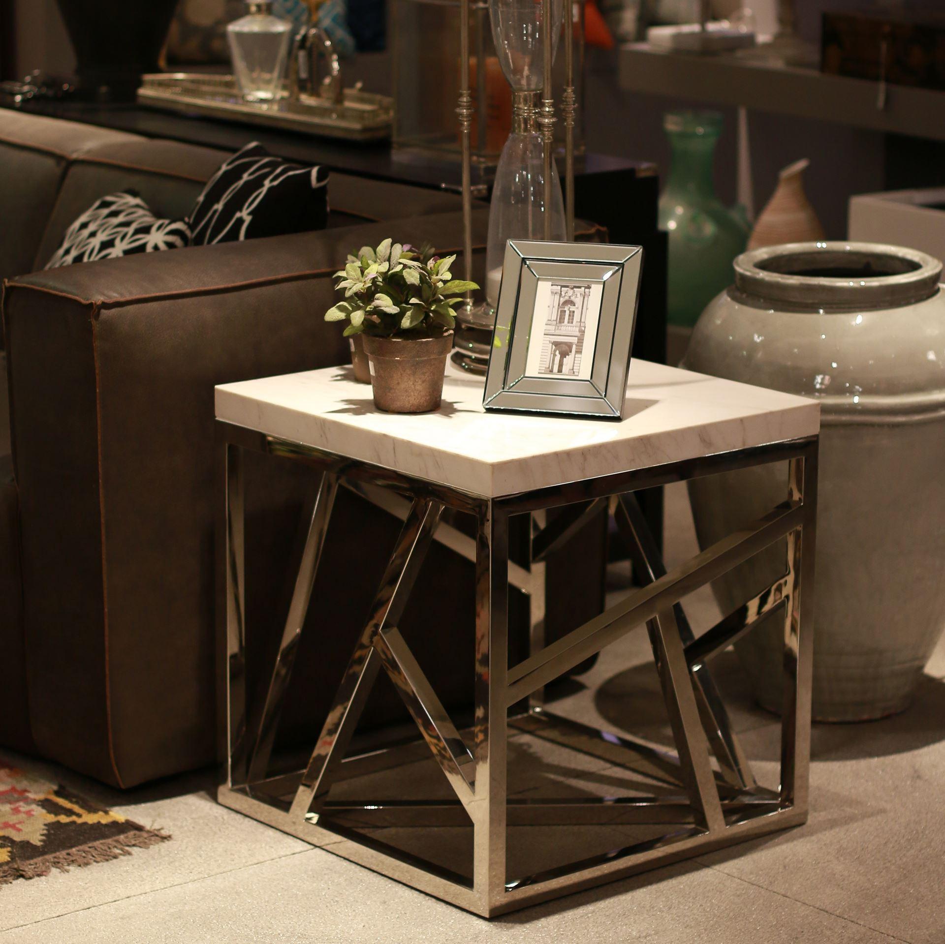 Marble side table 60cm cumba selection mobilya dekorasyon for Coffee table 60cm