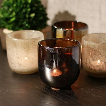 Picture of Candle Holder Tathra Matt Pearl Brown