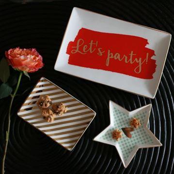Resim Servis Tabağı Lets Party