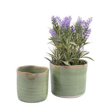Resim Yeşil Çiçeklik H:11 cm
