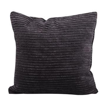 Resim Kadife Yastık Siyah 45 cm