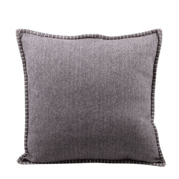 Picture of Wool Gray / Coffee Pillow