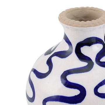 Picture of Blue Hand Painted Ceramic Vase 10x10,5 cm