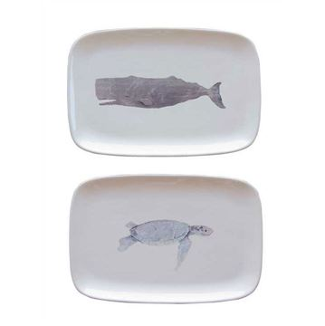 Picture of Turtle Figure Ceramic Service Plate