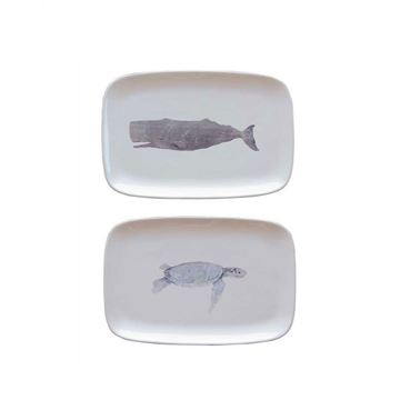 Picture of Whale Figure Ceramic Service Plate