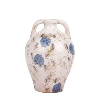 Picture of Blue & White Flower Soil Vase