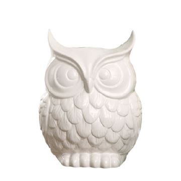 Picture of White Owl Vase
