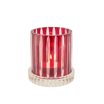 Picture of Praque Candle Holder Red H:12 cm