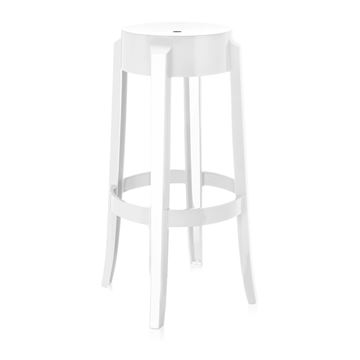 Picture of Charles Ghost Stool Glossy White
