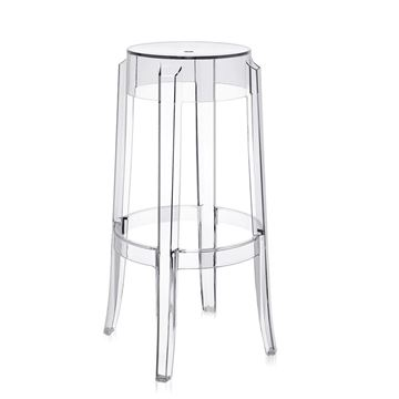 Picture of Charles Ghost  Stool Transparent  H:65 cm