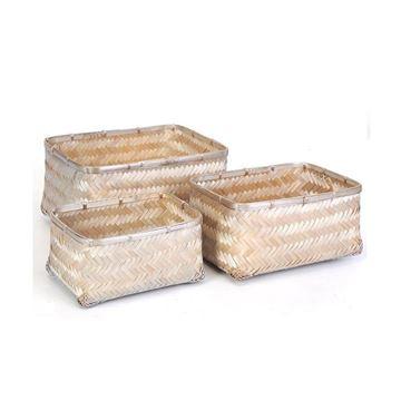 Resim Bambu Sepet Silver M