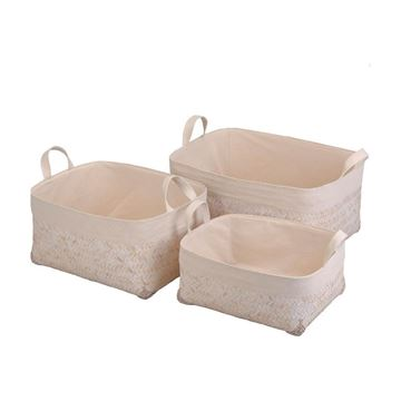 Picture of Bamboo Basket White L