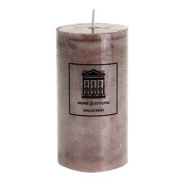 Resim Mermer Görünüm Mum Kahve H:13 cm