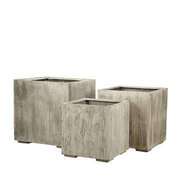 Picture of Square Pot Concrete Rustic Beige 80x84 cm