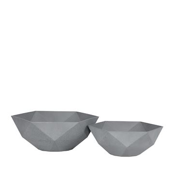Picture of Sandstone Pot Hexagon Grey 43x16 cm