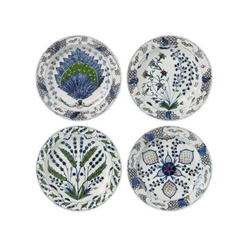 Picture of Isfahan Plate Blue White Q:25,5 cm