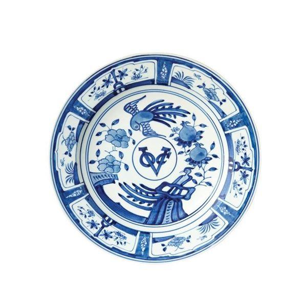 resm Kraak Tabak Mavi Beyaz Q:42 cm