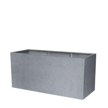 Picture of Fiber Pot Rectangle Natural Grey 100x50 cm