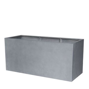 Picture of Fiber Pot Rectangle Natural Grey 150x70 cm
