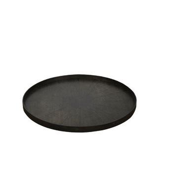 Resim Tepsi Ahşap Siyah Dilim Q:92 cm