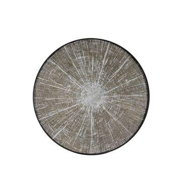 Resim Tepsi Ahşap Beyaz Dilim Q:92 cm