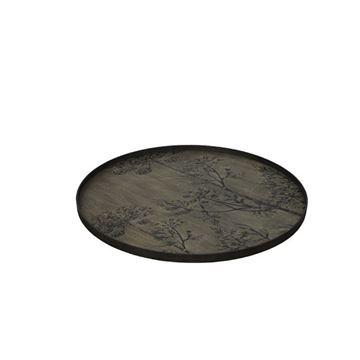 Resim Tepsi Ahşap Siyah Q:92 cm