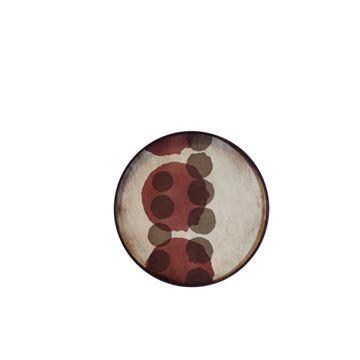 Resim Tepsi Ahşap Noktalı Cam Q:48 cm