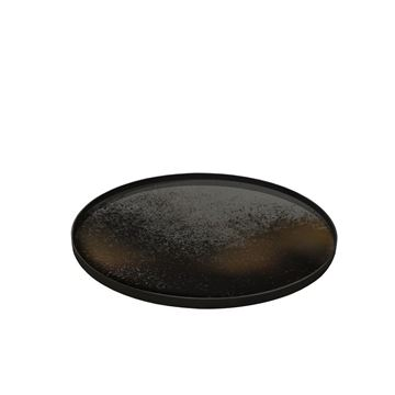 Picture of Tray Wood Bronz Miror Q:92 cm