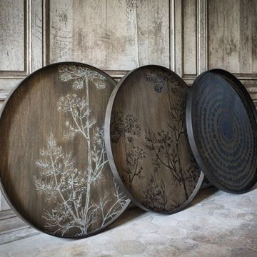 Picture of Tray Wood Bige Driftwood Styl Q:92 cm