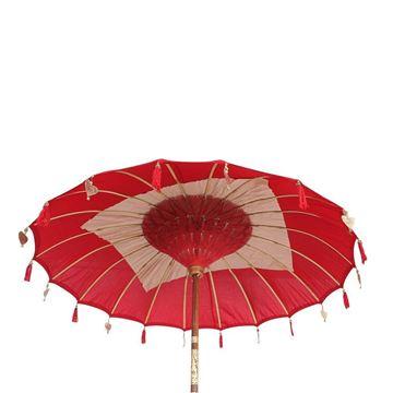 Resim Dekoratif Şemsiye Kırmızı H:260 cm
